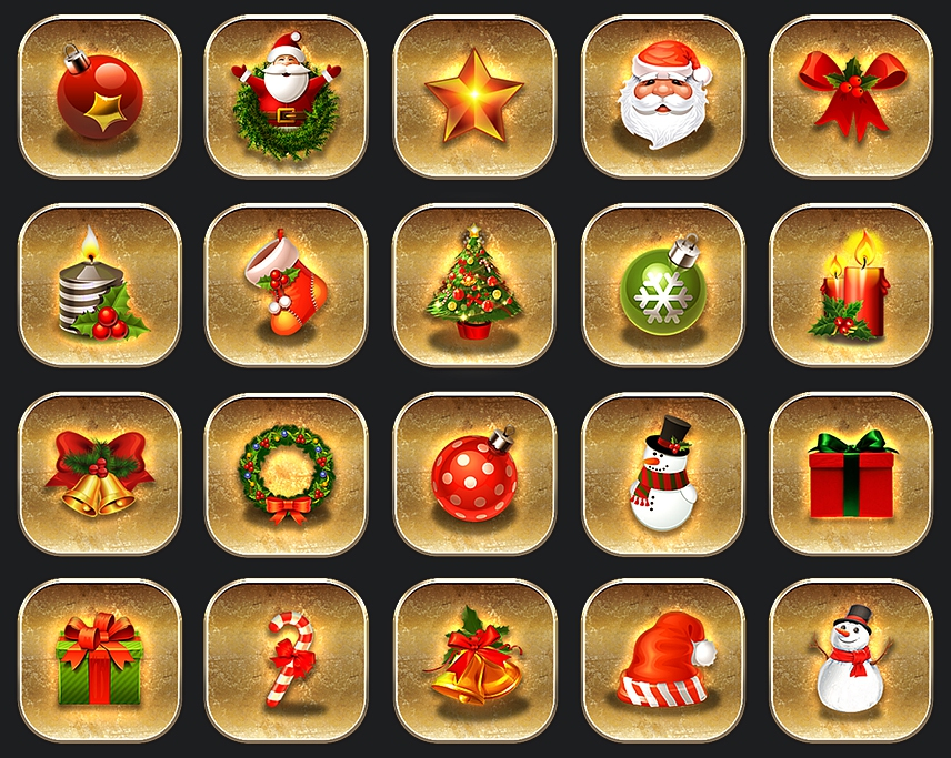 22 Golden Christmas Icons