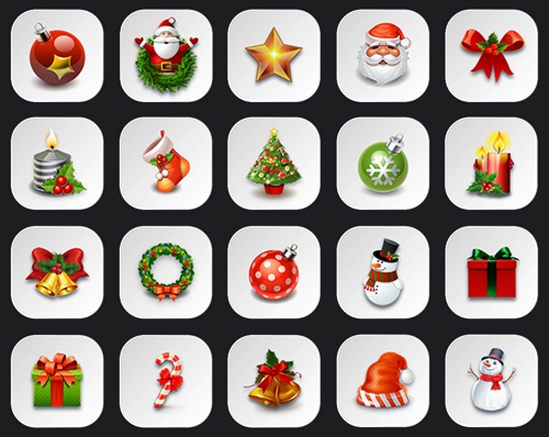 22 White Christmas Icons